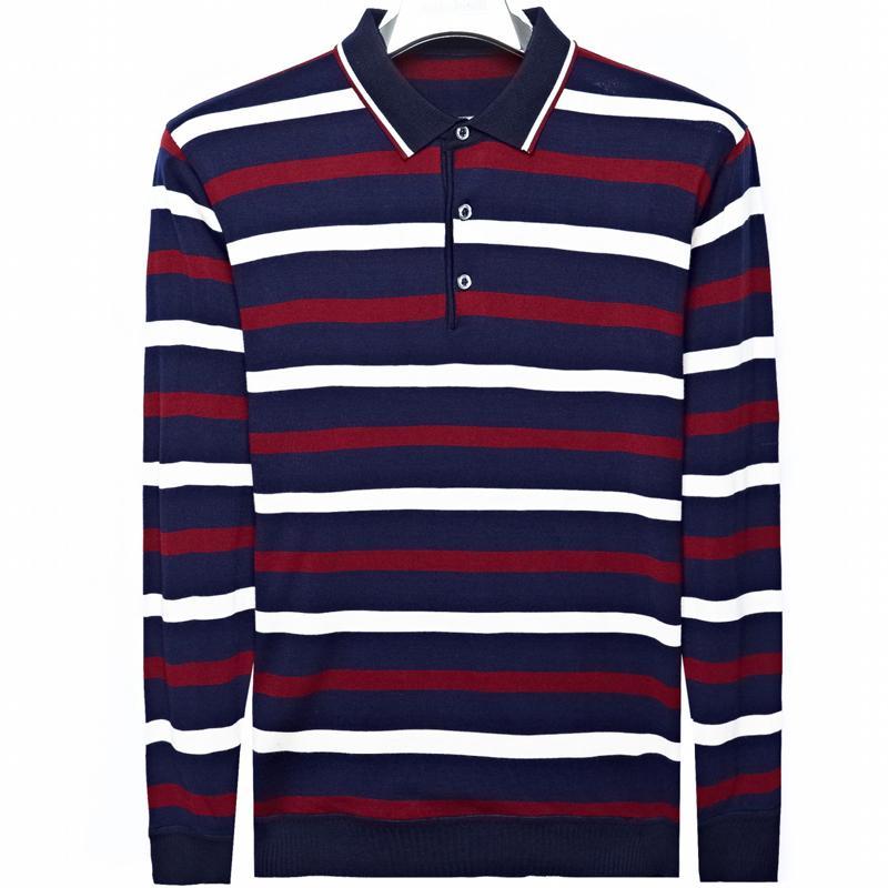 2019 긴 소매 스트라이프 폴로 셔츠 남성면 스트리트의 폴로 셔츠 남성 티 셔츠 poloshirt의 camisa의 폴 옷 2,267 드레스