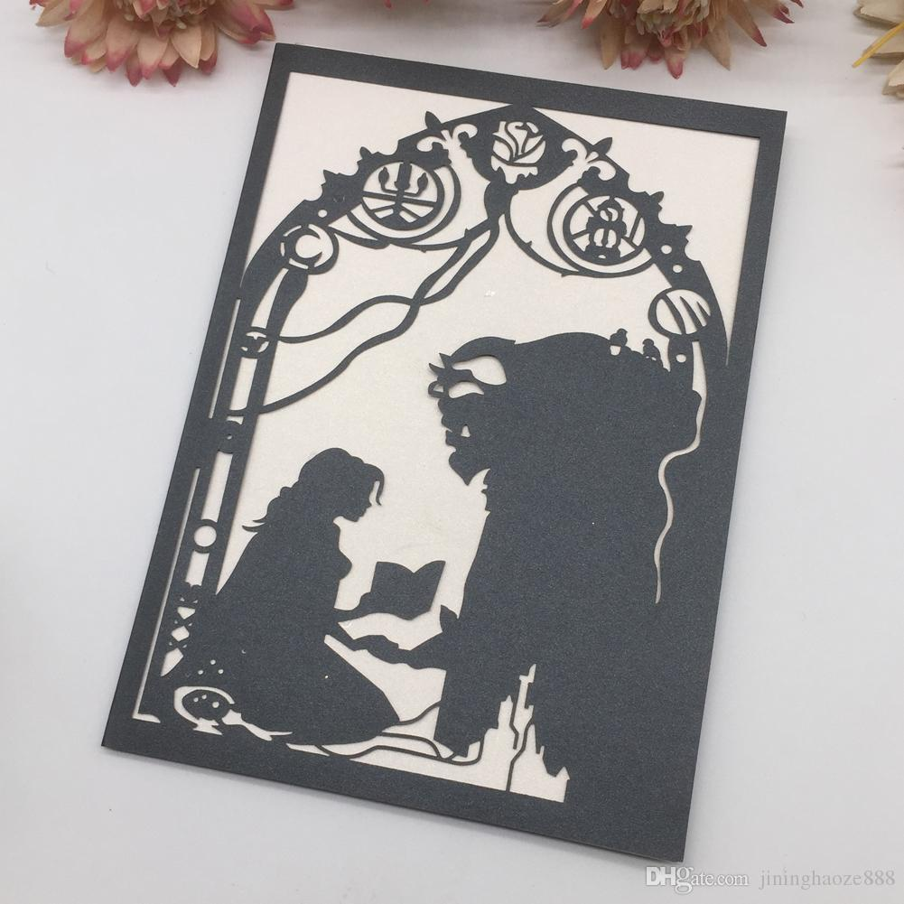 Beauty And Beast Theme Birthday Wedding Invitation Card European  Invitations With Hollow Laser Cut Thanksgiving Cards Wedding Invitation  Paper Wedding Invitation Printing From Jininghaoze888, $1.61| DHgate.Com