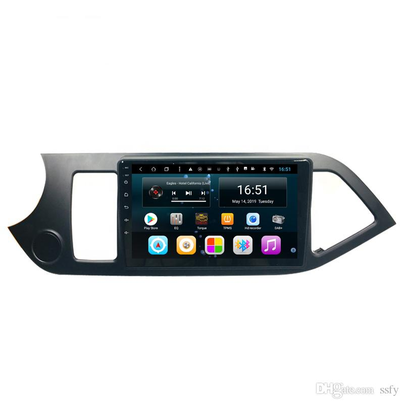 "9"" Android Car PC GPS Navigation FM DVD WiFi radio wifi Audio Video 8 Core CPU For KIA PICANTO Morning Left driving"