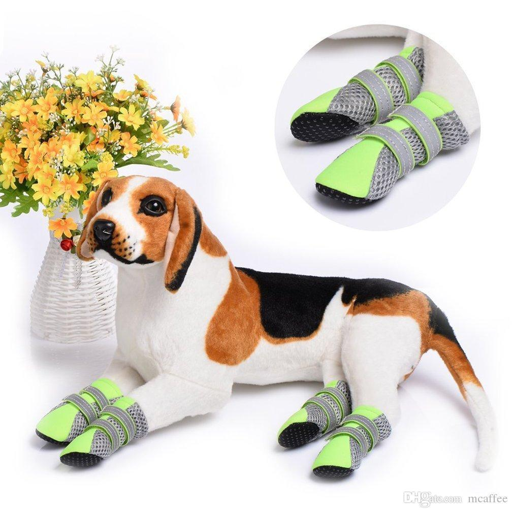 Pure Rubber Soft Sole Walking Running Dog Shoes for Small Pet Dog Puppy Cat Boot Shoes Breathable and Comfortable