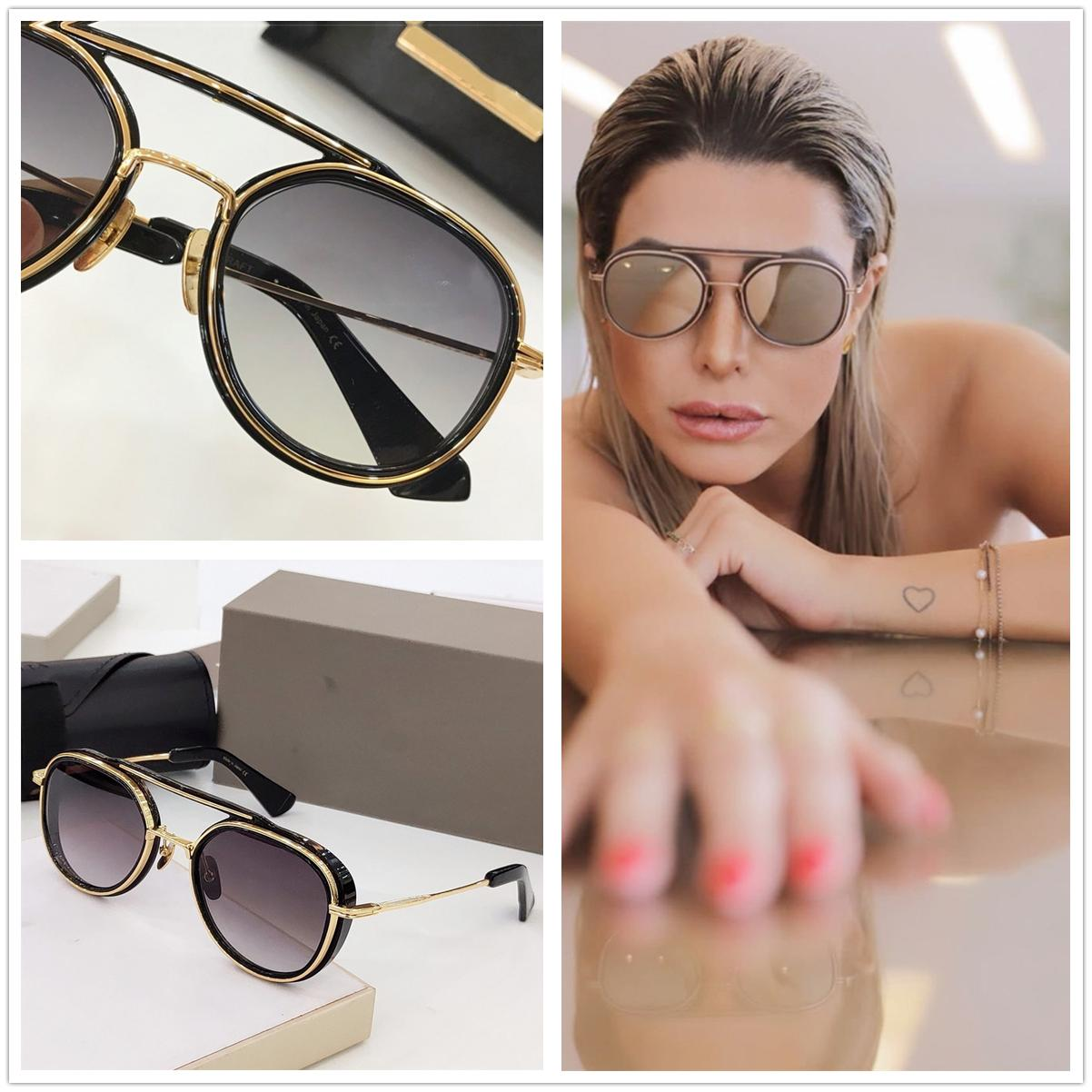 2020 el nuevo del diseñador gafas de sol de la marca de gafas de sol de la vendimia redonda de moda Gafas de sol rosadas anti Refelction conducción Eyewear UV400 19017
