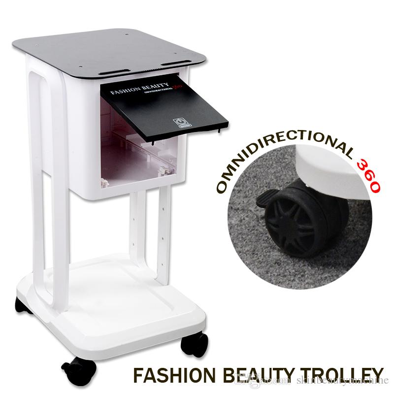 전문 살롱 미용 기계 트롤리 카트 패션 미용 무 지향성 360 트롤리 스탠드 살롱 장비에 대한 이동식 카트 롤링