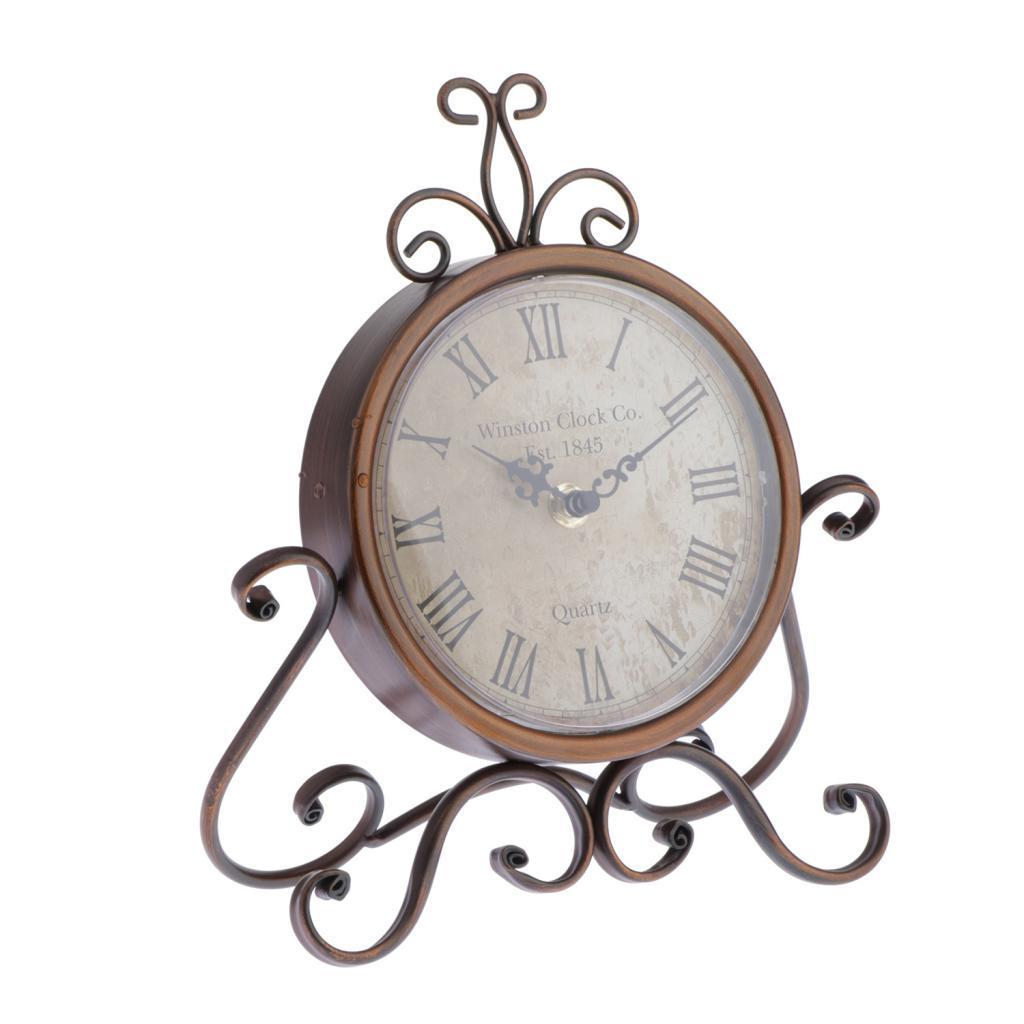 Europa Style Vintage Classic rotonda analogico orologio da tavolo Battery Operated