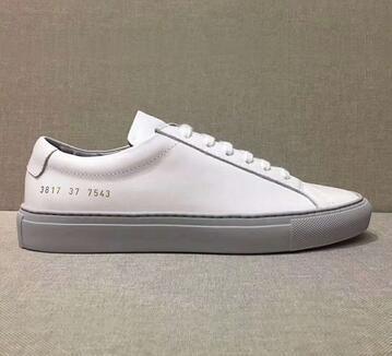 New Weiß Rosa Achilles Low Top-Schuh-Frauen-Turnschuhe echtes Leder-beiläufige Schuh-Ebene Chaussure Femme Homme jin13