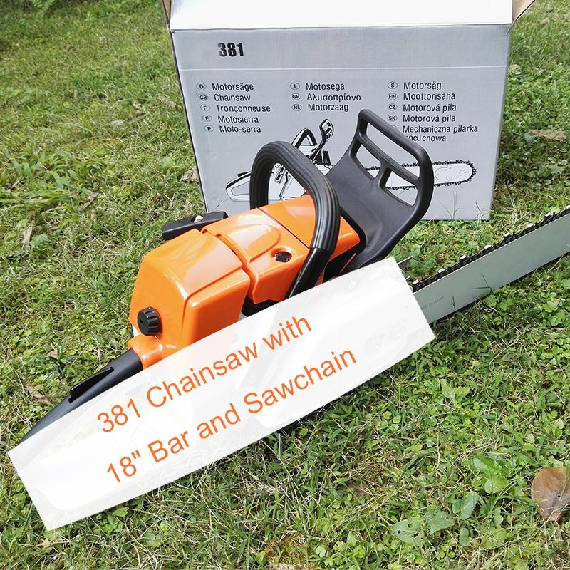 High Quality 381 Chainsaw 72CC Chain Saw WITH 18 inch Bar And Chain