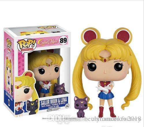 China FUNKO POP Animation Sailor Moon & Luna Vinyl Action Figure With Box #89 Toy Gify Doll Good Quality Christmas