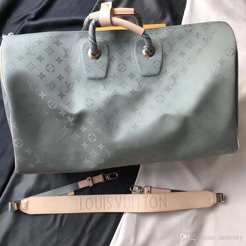 2020 новая роскошная дизайнерская дорожная сумка из кожи и холста Luxury Fashion Designer Travel Bag Fashion Print M44642