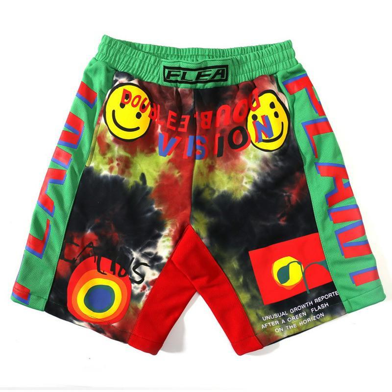 2020 Nueva pulgas de diseño para hombres de los pantalones cortos de verano CPFM Sonrisa Blooming Cartas coloridas Pantalones americana marca de moda casual y de playa europeos