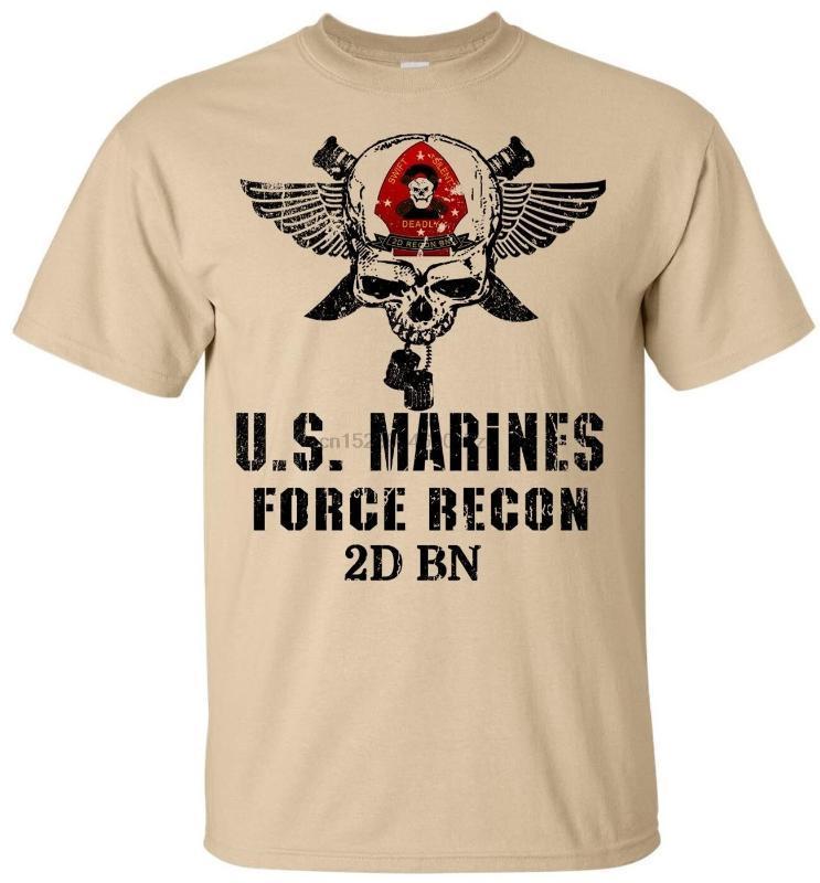 ABD Deniz Piyadeleri Kuvvetleri Recon Tişört Swift Sessiz Ölümcül Semper Fi Erkekler Pamuk Tee USMC