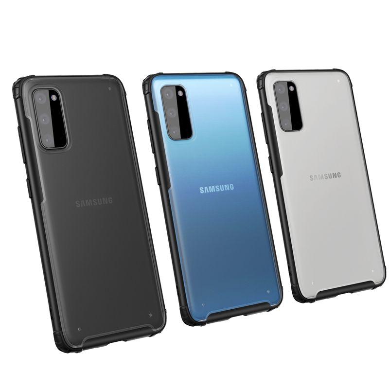 Résistant aux chocs transparent cadre complet de l'affaire TPU Phone Housse pour Samsung S20 Ultra Silicone Soft Shell Housse de protection arrière