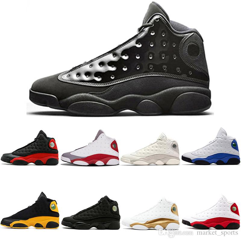2019 Новый 13 13s Баскетбол обувь для мужчин, женщин Кепка и платье Bred Chicago Высота над уровнем моря Тройной Белый Черный Флинтс Фантом Бренд Спортивная обувь