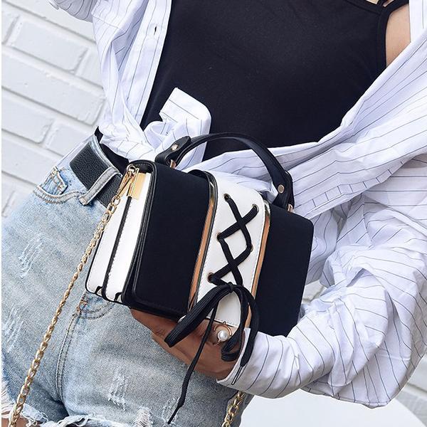Иностранный стиль сумка женской 2020 нового стиля личность горячей мода корейская версия общества все берут мешок креста тела одинарных сек