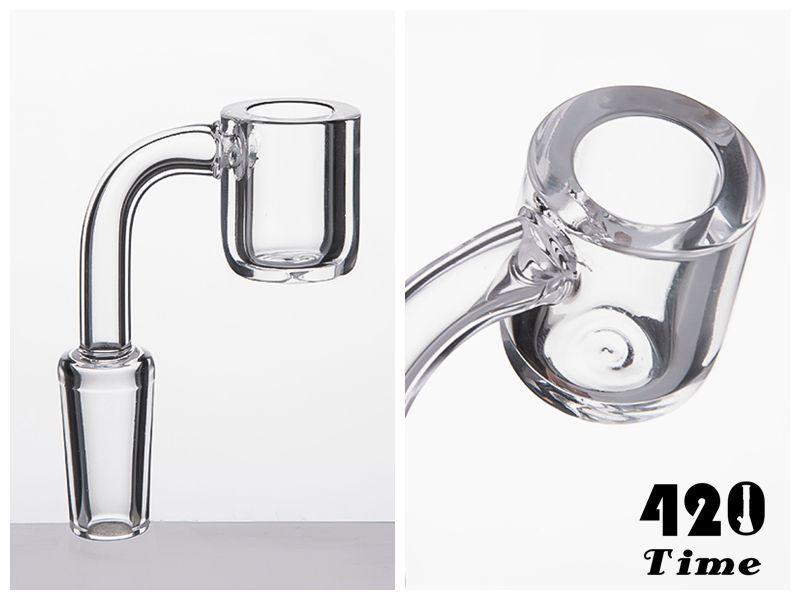 4mm de espessura de quartzo Banger Domeless quartzo prego Flat top Banger 10% 14 mm 18 mm feminino masculino para bong de vidro tubos de água 644
