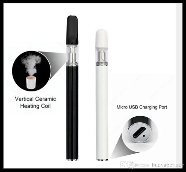 monouso olio co2 penna vape batteria ricaricabile mini penna sigaretta 510 cartuccia di vetro ceramica mini pulsante della penna meno vaporizzatore