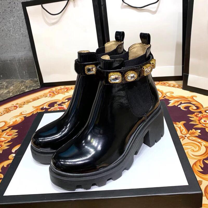 Leather Ankle Boot With Belt Trip Jewel