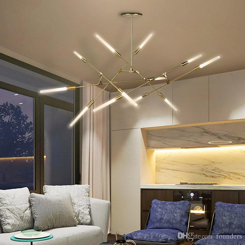 Araña de árboles nórdicos Iluminación Sala de estar Dormitorio Restaurante Lustres Branch Led Luminaria Suspendu Colgante Candelabros modernos