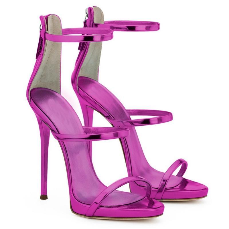 ENMAYER Marca estrema tacchi alti sandali della donna Pumps Stiletto Blu Nero Gladiator Sandalias Big Size34-45 Scarpe donna Y200620