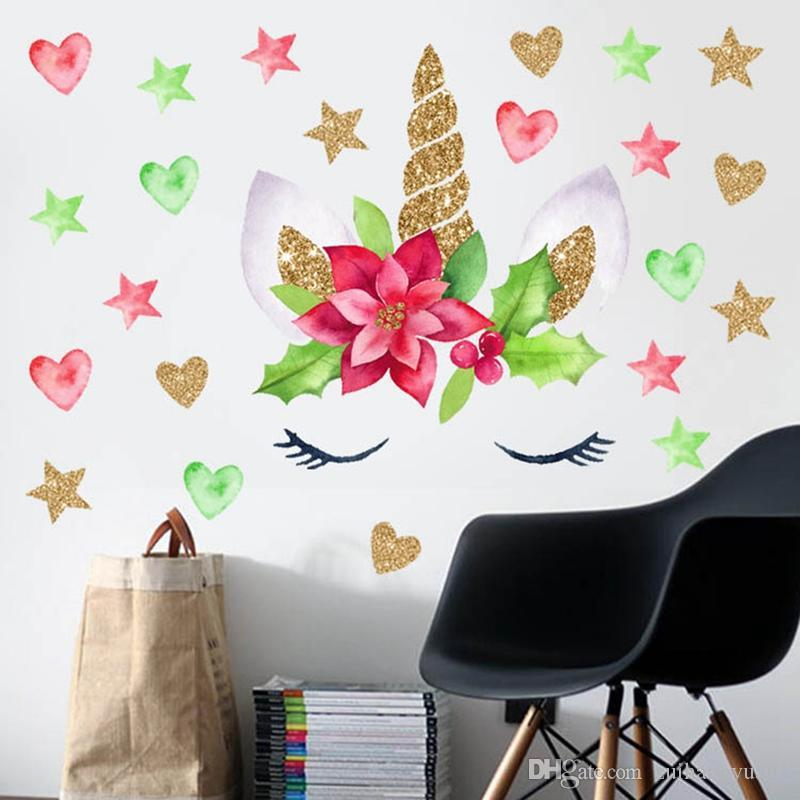 Removable Creative Diy Non Toxic Peel And Stick Cartoon Unicorn Wallpaper Wall Sticker Wall Decals Kids Room Decoration 25 25cm Wall Decal Tree Wall Decal Vinyl From Zuihangyuan1 0 86 Dhgate Com
