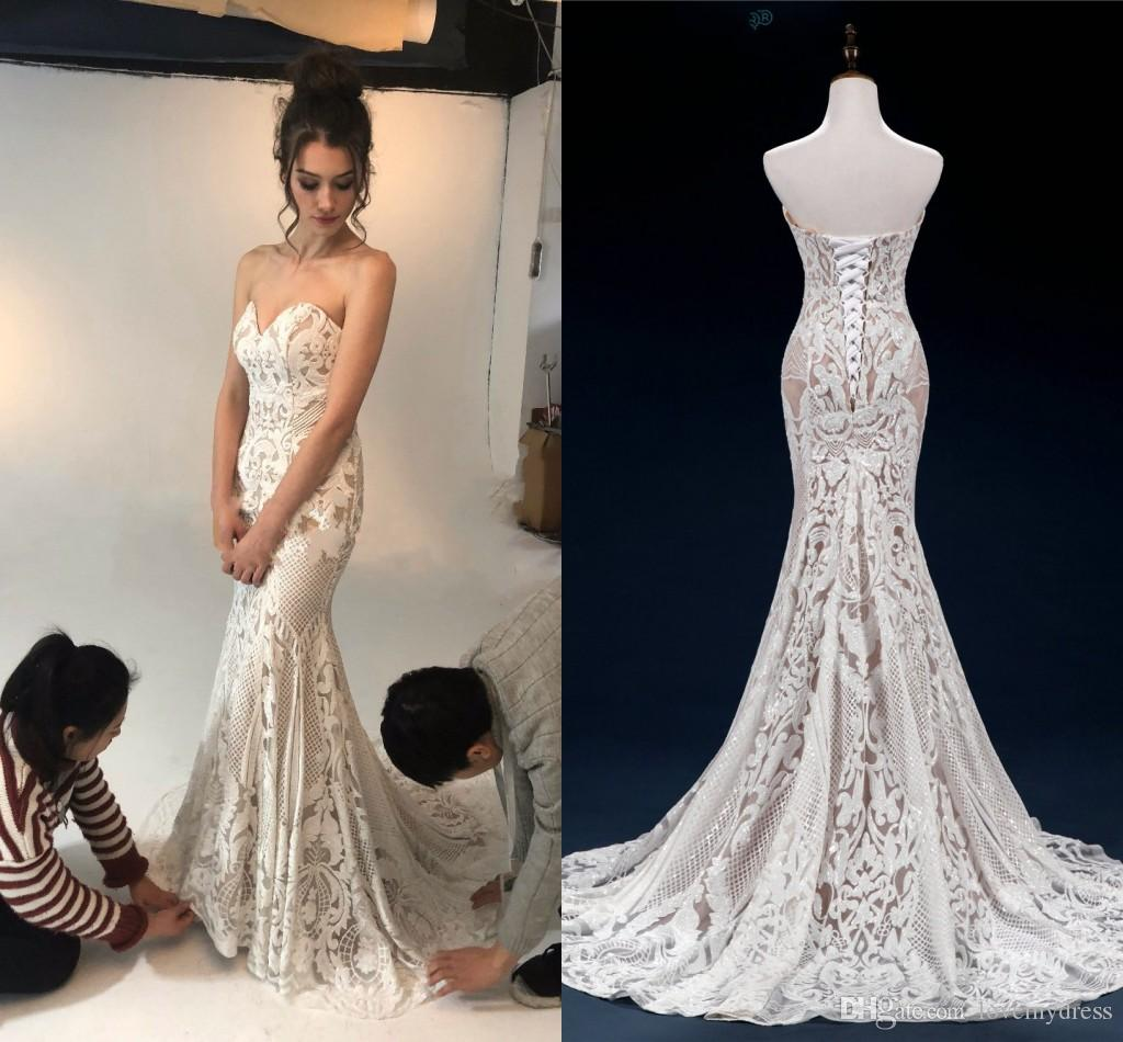Expensive Lace Mermaid Wedding Dresses Strapless Lace Up Open Back Custom  Made Wedding Dress Bridal Gowns Vestido De Novia Plus Size Bridal Bridal