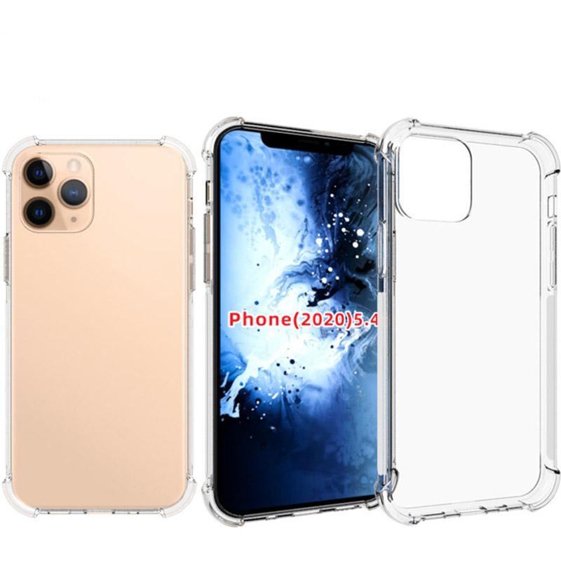 1.5mm TPU caja del teléfono celular anti huella digital transparente a prueba de golpes de teléfono para el iPhone 12 11 Pro Max 8 SE LG Google Moto