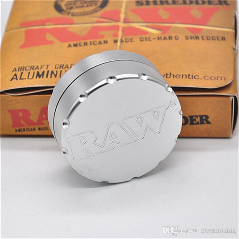 CNC табачное сырье мясорубку специй Херб Grinder 50мм алюминий 2 слоя простой в использовании с высокосортной упаковки