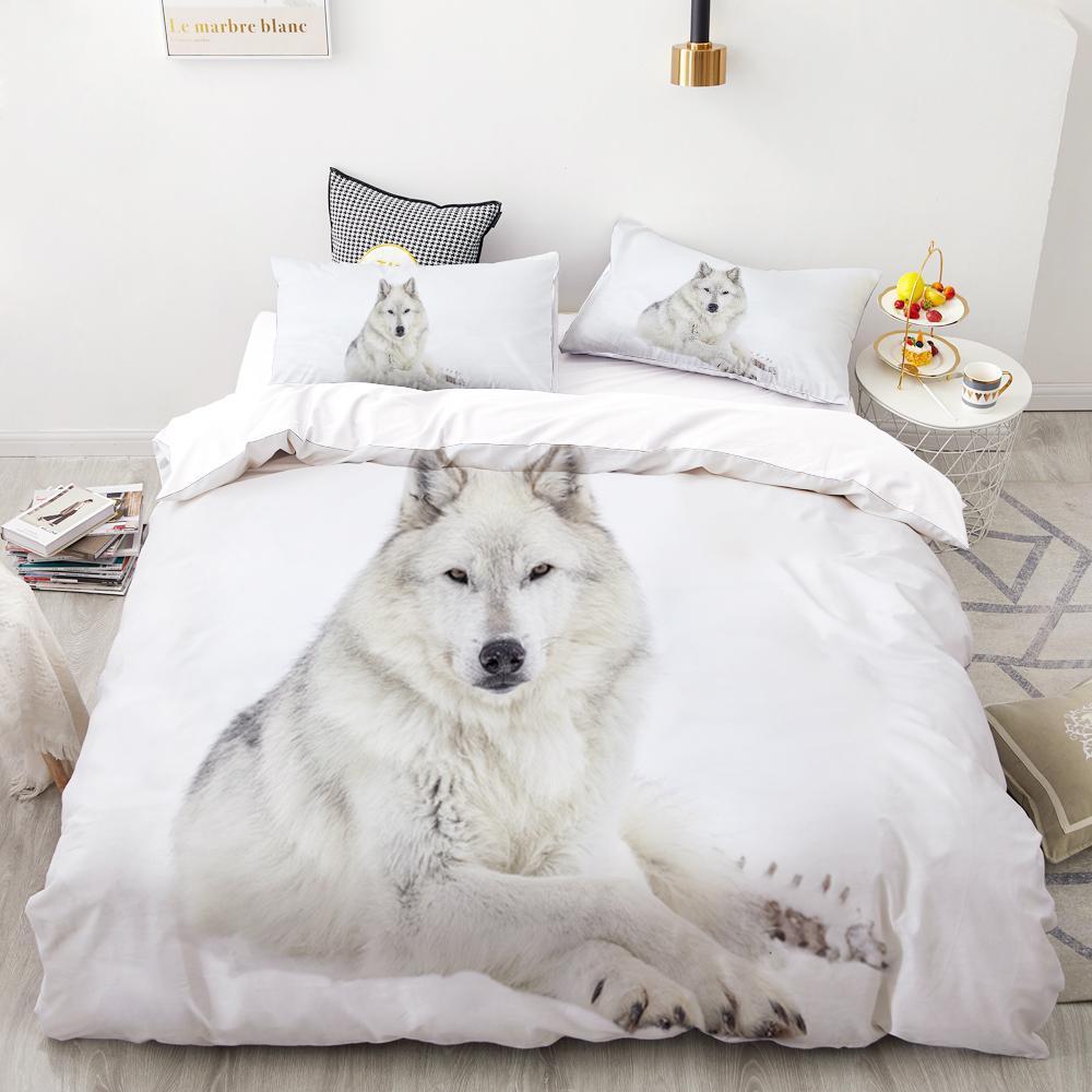 3D Digital Печатный Пододеяльник King / Европейский / Американский Одеяло Набор Одеяло / Одеяло животных Black Lion Постельные принадлежности