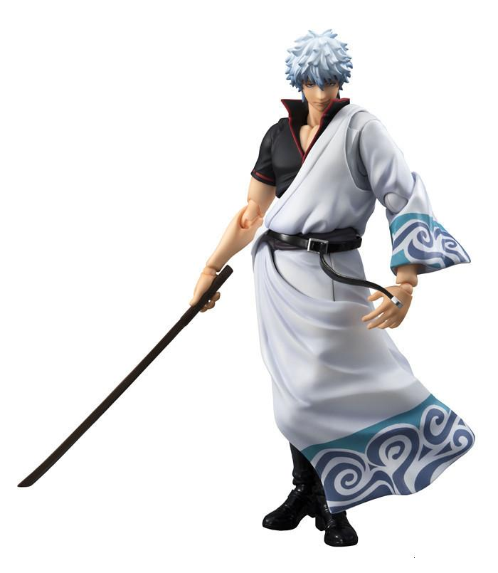 NEW hot 18cm GINTAMA Sakata Gintoki movable action figure toys collection Christmas gift doll with box T191022