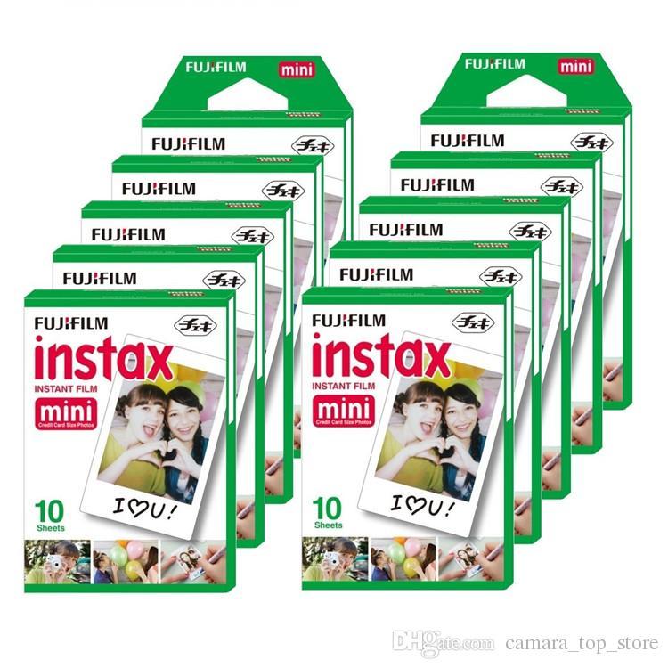 Novo 20 PCS Box Fujifilm Instax Mini 8 Filme 20 folhas para câmera Instax Mini 7s 25 50s 90 Papel foto Branco Borda 3 polegadas Filme largo