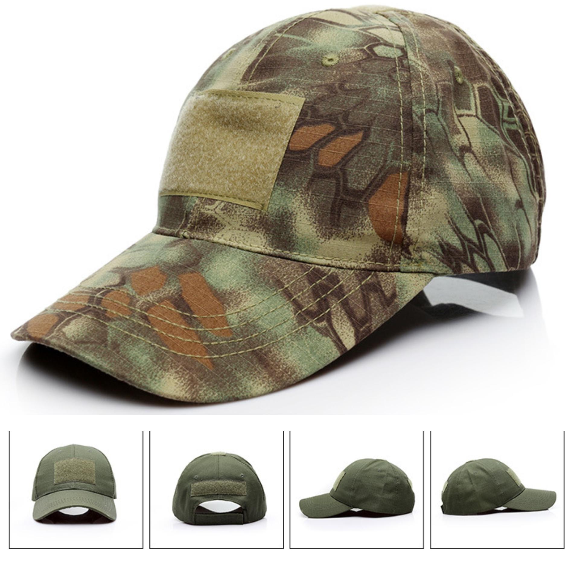 Nuevo camuflaje gorra de béisbol de entrenamiento al aire libre de caza tácticos sunhat Varios colores de camuflaje regala la bandera de velcro.
