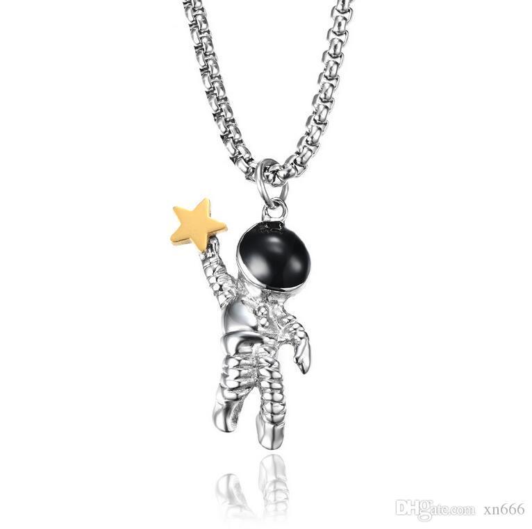 Choisissez les étoiles du quartier branché de collier des hommes de choisir les étoiles pendentifs en or plaqué acier inoxydable usine vente directe