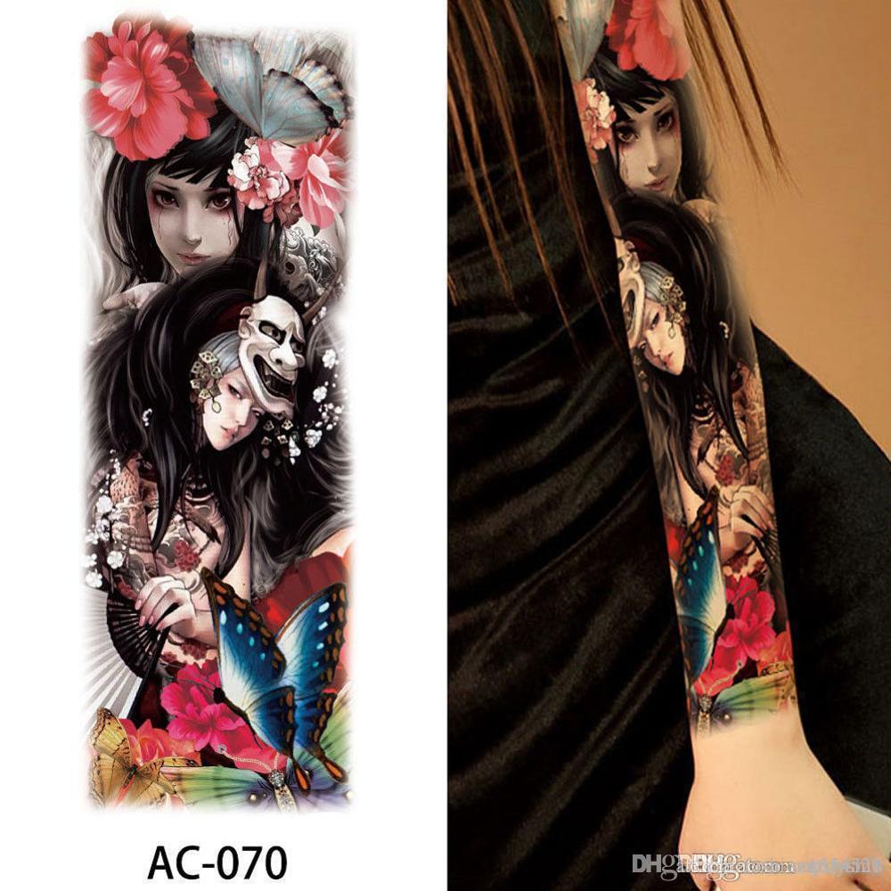 Autocollant de tatouage temporaire étanche à la mode Sexy Flower Rose pour adultes enfants Body Art faux femmes tatouage nouvelle conception 48 * 17CM