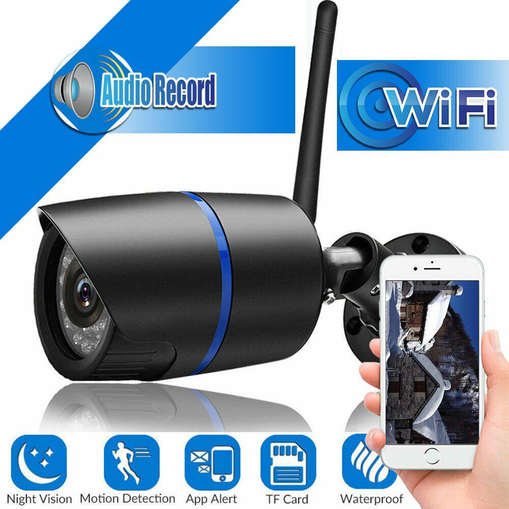 كاميرا الشبكة اللاسلكية اللاسلكية WIFI Wi IP السمعية HD IR 1080P في الهواء الطلق بطاقة TF