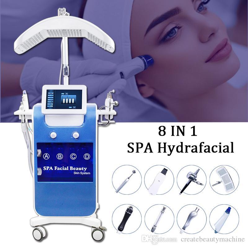 8 IN 1 Microdermabrasion Hydra Dermabrasion RF Bio-lifting Spa Facial Products Hydra Facial Machine improve skin dull
