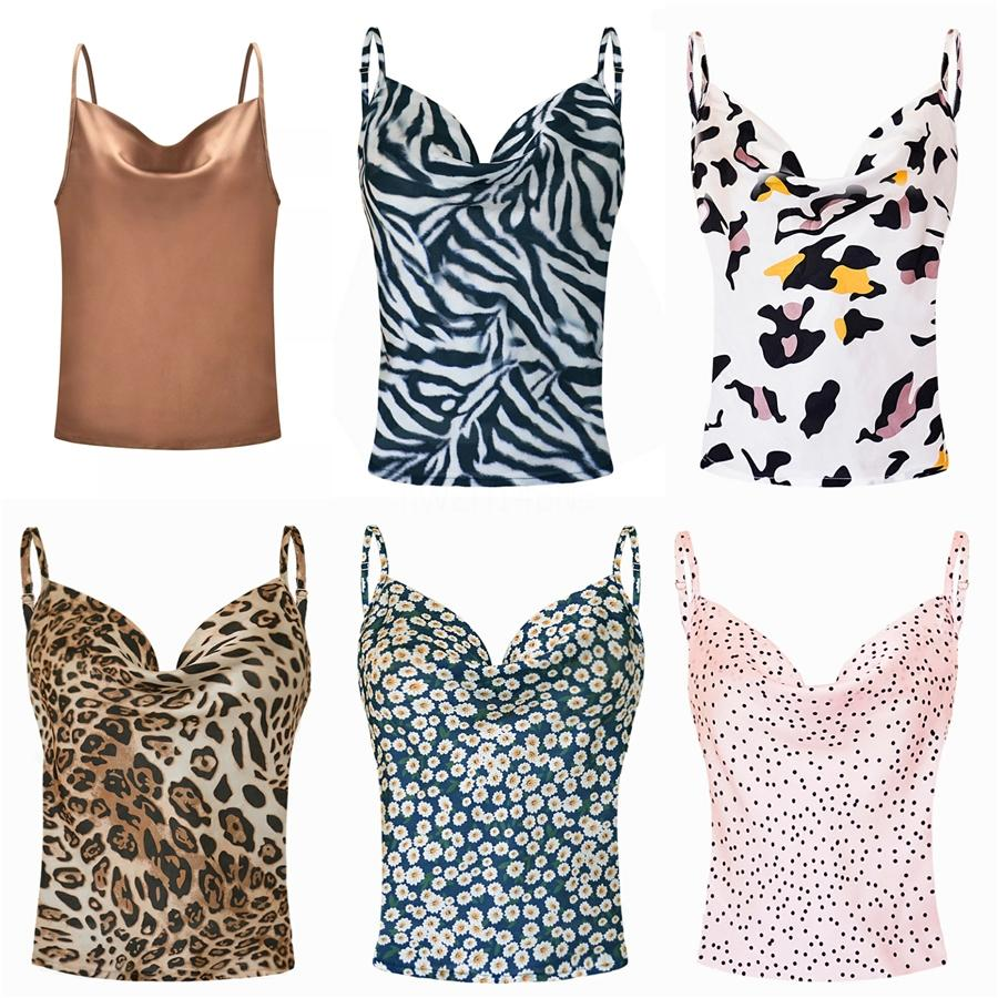 Été Débardeurs T-shirts camouflage femmes Gilet sans manches O Neck Casual Slim Printed Tee Tops Big Plus Size Oversize # 682
