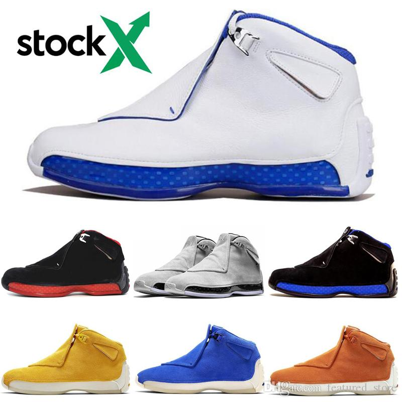 Stock X Cool 18 s Chaussures de basket-ball définissant Moments Hommes Toro Bleu Royal 18 XVIII Cool Gris Sneakers Sport Chaussures Taille 7-13