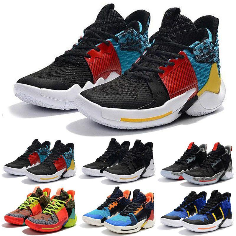 2019 New Russell Westbrook - Pourquoi pas Zer0.2 - Chaussures de basketball tout en voile pourpre - Multicolore - Taille 7-12