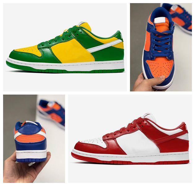 2020 Top Brazil SB Dunk Low SP Champ Colors shoes men women University Red sport skateboard trainers mens designer sneakers size 36-45
