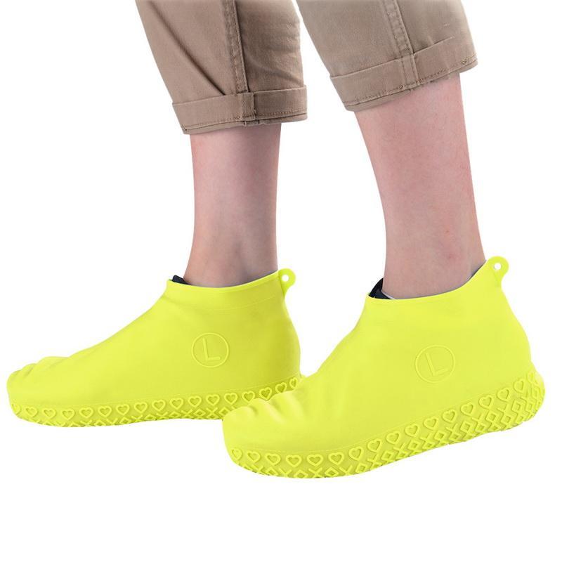 2020 Yeniden kullanılabilir su geçirmez Silikon Ayakkabı Aksesuarları Kaymaz Yağmur Ayakkabı Kapaklar Yeni Açık Kamp Boot Su geçirmez Kapağı Kapaklar