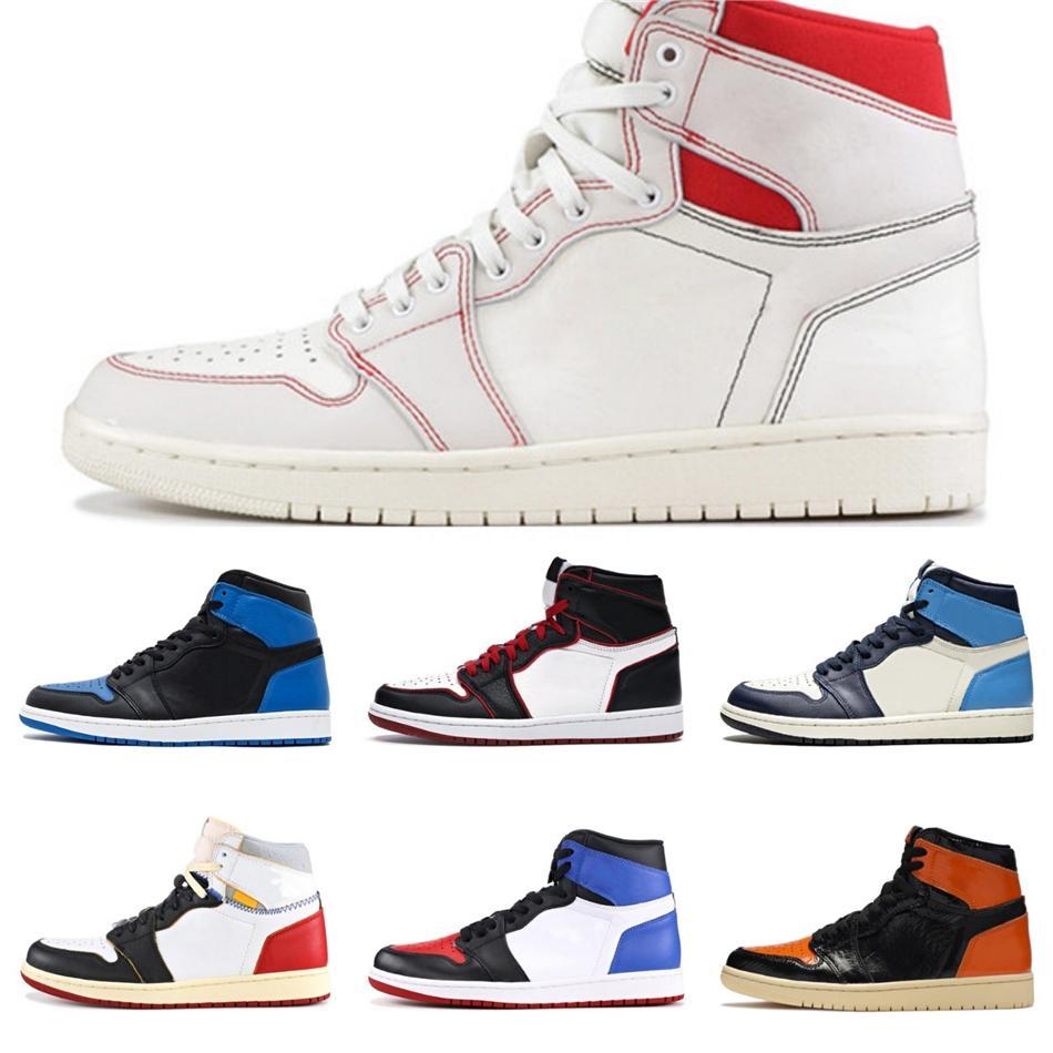 Yeni 1 Yüksek Og WMNS Batik Zapatos Erkekler Kadınlar Basketbol Ayakkabı 1S Jumpman Atletik Spor Eğitmenler Mens Tasarımcısı Sneakers # 528