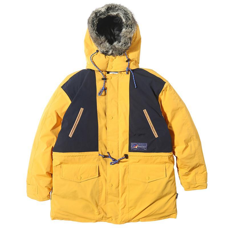 Hip Hop Patchwork Long Mens Thick Parkas Winter Windbreaker Streetwear Harajuku Padded Hooded Jacket Coats Outwear