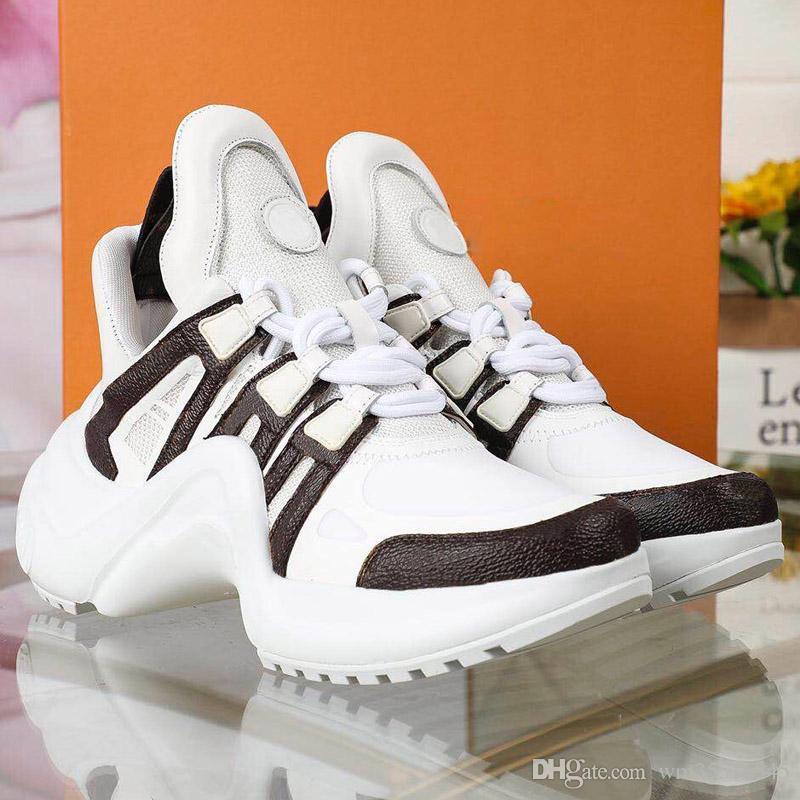 Nero Casual Shoes Bianco Blu Monogram Nero ARCHLIGHT donne del cuoio genuino scarpe di sicurezza