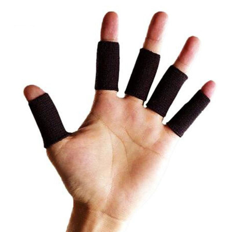10pcs / lot Professional Segurança Sports Elastic estiramento apoio para o punho Nylon Dedo Protector Basquetebol Voleibol respirável proteção do dedo