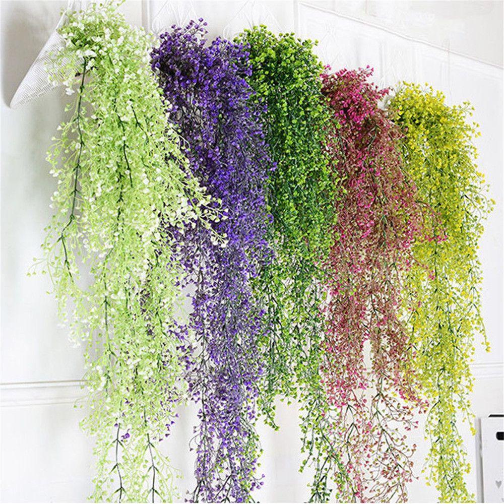 Nuovo arrivo artificiale finto fiore di seta vite decorazione del giardino appeso ghirlanda pianta piante artificiali casa giardino decorazione di cerimonia nuziale