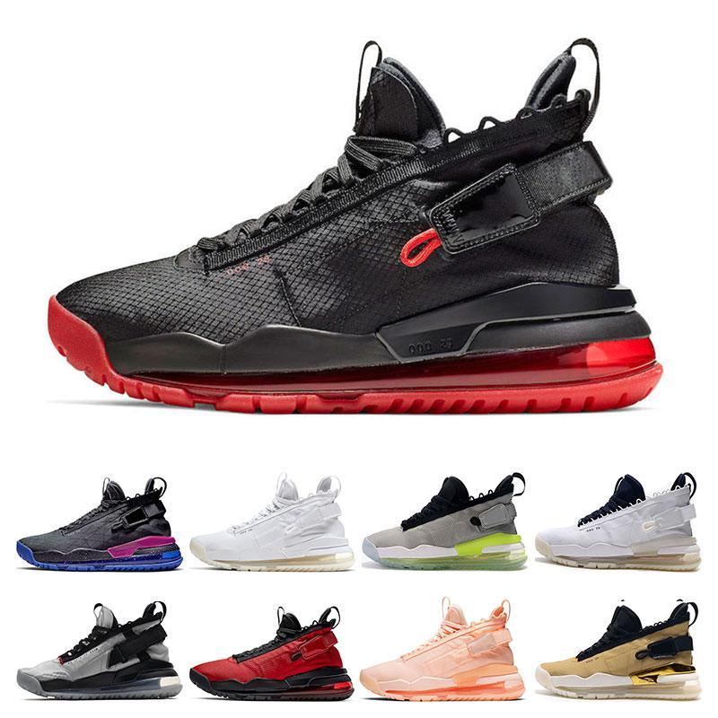 크림슨 색조 GOLD BLACK GYM RED 메탈릭 실버 ROYAL PURPLE 자란 새로운 남성 농구 신발 PROTO 스포츠 운동화 트레이너 jumpman 망