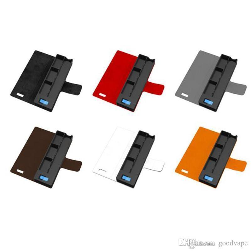 Новый красочный блок питания Портативный USB 1200mah ЖК-дисплей зарядное устройство для VapeJuul V2 V3 CocoBattery Vapor Pods картридж высокое качество DHL
