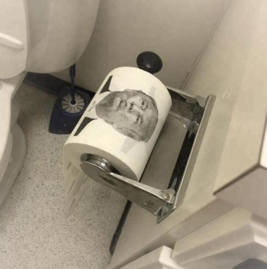 Trump Toilettenpapier Joke Fun Papiertaschentücher Kreative Badezimmer Lustige Toilettenpapier Präsident Donald Trump Toilettenpapier OOA7905