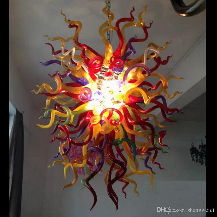 Новейшая красочная боросиликатная люстра современный на заказ итальянский стиль домашнего декора Дейл Chihully Murano Стеклянные люстры