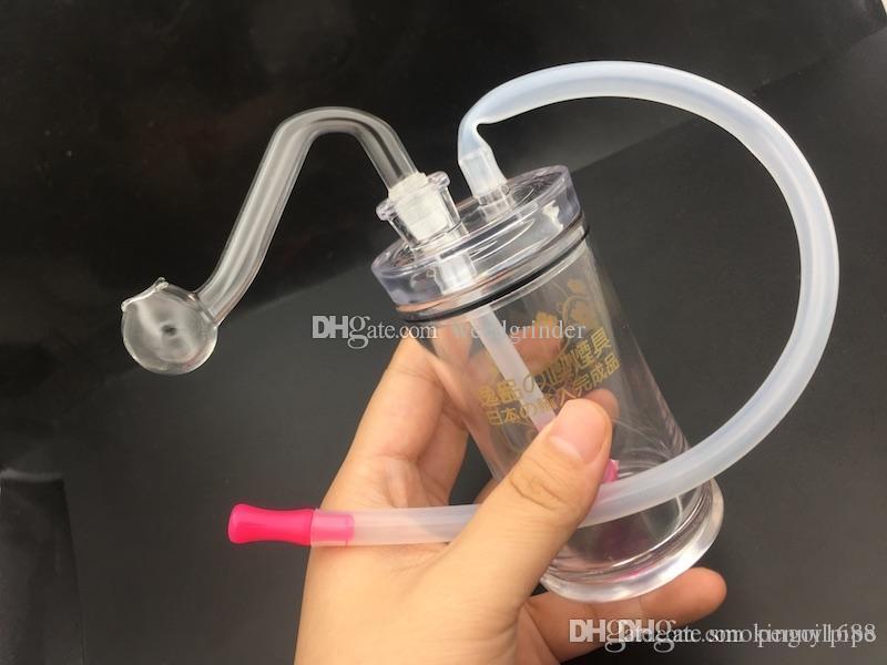 tubo queimador de óleo 10 milímetros de plástico tubulação de água mini-plataforma de petróleo barato mini com tigela de óleo de 10 milímetros de vidro com mangueira de silicone