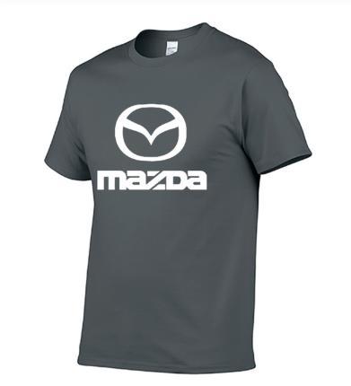 Nouveau été manches courtes hommes pour Logo voiture occasionnels de haute qualité coton O-cou à manches courtes couleur unie hommes T-shirt
