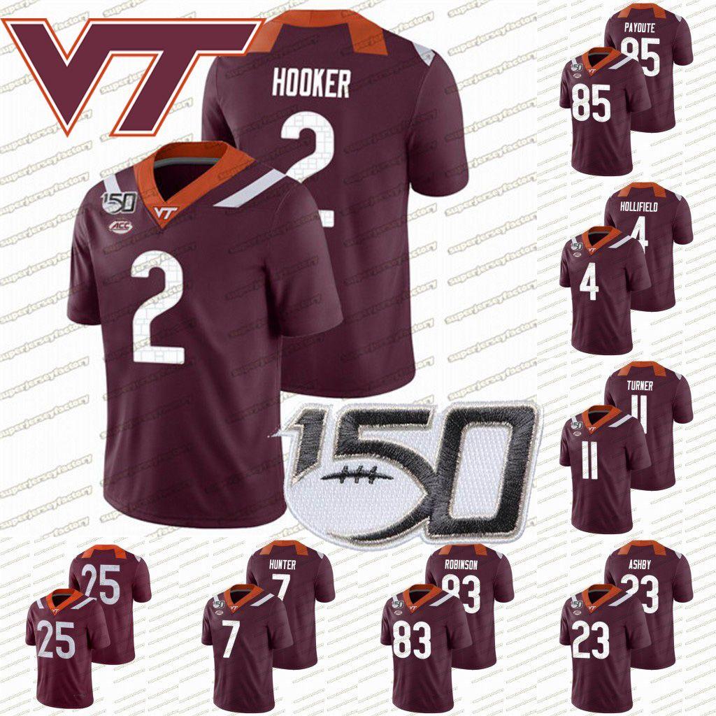 Virginia Tech Hokies 150 Джерси # 25 2 Hendon Hooker Tayvion Робинсон Quincy Patterson Tre Тернер Девон Хантер Rayshard Эшби College Football